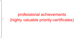 professional achievements (highly valuable priority-certificates)